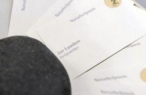Jan Laucken Visitenkarte, Naturheilpraxis Laucken